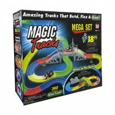 Набор Magic Tracks 360 с 2 машинками, большим мостом,  и деревьями