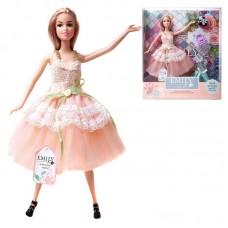 Кукла ABtoys Emily Розовая серия с сумочкой и аксессуарами, 30см