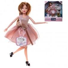 Кукла ABtoys Emily Розовая серия с собачкой и аксессуарами, 30см