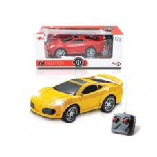 Машинка р/у 1:20, световые эффекты, цвета в ассорт. (красный, желтый) 25х11х10 см