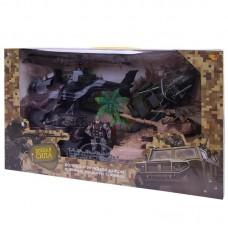 Игровой набор ABtoys Боевая сила. Военная техника с гидроциклом, вертолетом, фигуркой и аксессуарами, 7 предметов