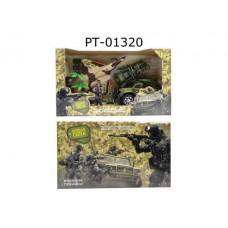 Игровой набор ABtoys Боевая сила. Военная техника с истребителем, минометом, фигуркой и аксессуарами, 10 предметов
