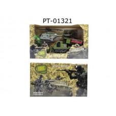 Игровой набор ABtoys Боевая сила. Военная техника с вертолетом, фигуркой и аксессуарами, 7 предметов