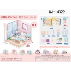 Модульный домик (собери сам), 1 секция. Мини-кукла в гостинной, в наборе с аксессуарами