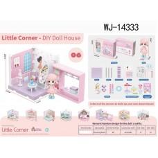 Модульный домик (собери сам), 1 секция. Мини-кукла в гардеробной комнате, в наборе с аксессуарами