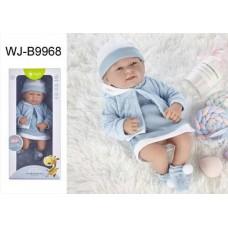 Пупс JUNFA Pure Baby 35см в кофточке, платье и шапочке, в коробке, с аксессуарами