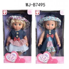 Кукла в платье и шляпке, 2 вида, 25 см
