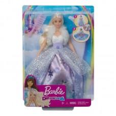 Barbie Снежная принцесса (с раскрывающимся платьем)