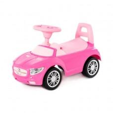 """Каталка автомобиль """"SuperCar"""" №1 со звуковым сигналом (розовая)"""