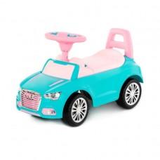 """Каталка автомобиль """"SuperCar"""" №2 со звуковым сигналом (бирюзовая)"""