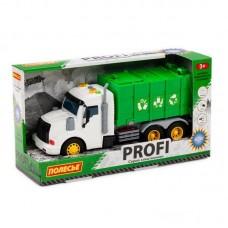 Машинка инерционная Полесье PROFI Мусоровоз зеленый, со светом и звуком (в коробке)