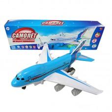 Самолет р/у со световыми и звуковыми эффектами, движение во всех направлениях, в коробке, 43х8х12,5см