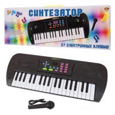 Синтезатор черный 37 клавиш, с дисплеем, эл/мех 53x6x19,2 см