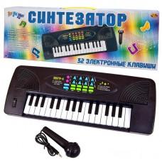 Синтезатор черный 32 клавиши, с микрофоном, эл/мех 44,5x5,5x15,5