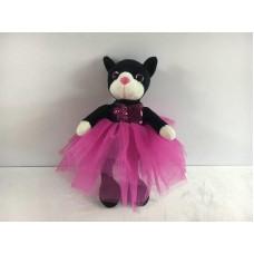 Кошка в платье (с пайетками), 20 см