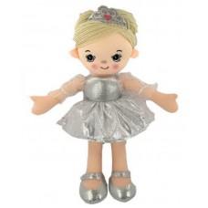 Кукла мягконабиваная, балерина, 30 см, цвет серебристый