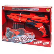 Мегабластер. Бластер стреляющий мягкими снарядами, 6 шт. в комплекте 25*22,5*6,5см
