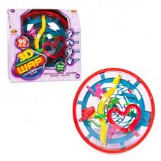 Интеллектуальный шар 3D в диске, 99 барьеров, диаметр лабиринта 19 см (ABtoys. Академия игр, PT-00563)