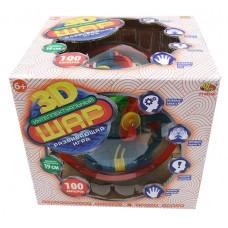 Интеллектуальный шар-летающая тарелка 3D, 100 барьеров, диаметр лабиринта 19 см (ABtoys. Академия игр, PT-00564)