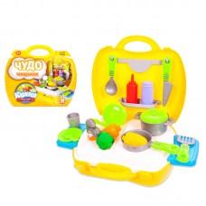 """Набор Кухня """"Чудо-чемоданчик"""", 21 предмет (ABtoys. Чудо-чемоданчик, PT-00458)"""