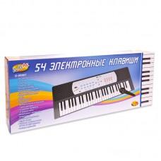 Детский синтезатор (пианино электронное) с микрофоном, 54 клавиши (ABtoys. DoReMi, D-00007пц)