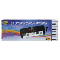 Детский синтезатор (пианино электронное) с микрофоном, 37 клавиш, 53 см (ABtoys. DoReMi, D-00025(SD981B))