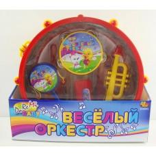 """Набор игрушечных музыкальных инструментов """"Веселый оркестр"""" в барабане (ABtoys. DoReMi, D-00032(WL-5119))"""