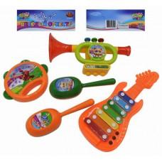 Набор игрушечных музыкальных инструментов, 5 предметов (ABtoys. DoReMi, D-00046)