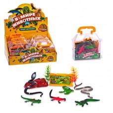 """Фигурки рептилий """"В мире животных"""", в наборе 9 шт. (ABtoys. Фигурки, PT-00597)"""