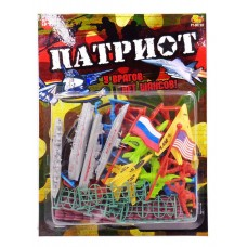 """Военный набор """"Патриот"""", с тематическими аксессуарами, 34 предмета (ABtoys. Фигурки, PT-00738)"""