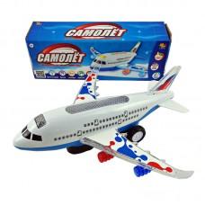 Самолет эл/мех со световыми и звуковыми эффектами, в коробке, 22,5x6,5x8см (ABtoys. Игрушки для мальчиков, C-00116)