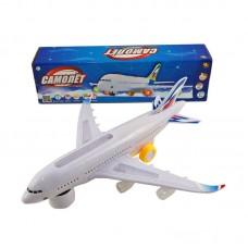 Самолет эл/мех со световыми и звуковыми эффектами, в коробке, 31x6,5x8,5см (ABtoys. Игрушки для мальчиков, C-00117)