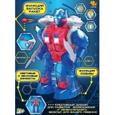 Робот, с эффектами, функция ходьбы и запуска ракет, на батарейках (ABtoys. Игрушки для мальчиков, C-00189)
