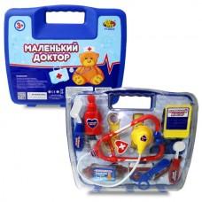 """Набор доктора """"Маленький доктор"""", 14 предметов, в чемодане (ABtoys. Маленький доктор, PT-00232)"""