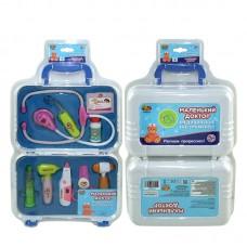 """Набор доктора """"Маленький доктор"""", 8 предметов, в чемодане (ABtoys. Маленький доктор, PT-00334)"""