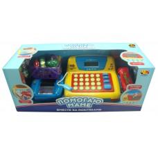 """Касса """"Помогаю Маме"""", в наборе с продуктами и аксессуарами, со звуком, на батарейках (ABtoys. Помогаю Маме, PT-00067(34369))"""