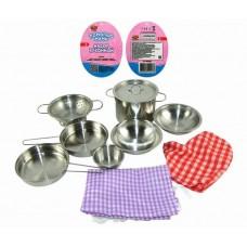 """Набор посуды металлической для кухни """"Помогаю Маме"""", 11 предметов (ABtoys. Помогаю Маме, PT-00266(WK-B0955))"""