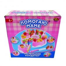 """Торт в наборе с аксессуарами """"Помогаю Маме"""", 37 предметов (ABtoys. Помогаю Маме, PT-00277)"""