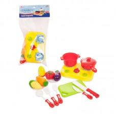 """Набор посуды и продуктов для резки на липучке """"Помогаю Маме"""" 22 предмета (ABtoys. Помогаю Маме, PT-00471)"""