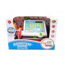 """Касса """"Помогаю Маме"""", в наборе с продуктами, на батарейках, 13 предметов, с эффектами (ABtoys. Помогаю Маме, PT-00579)"""