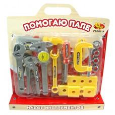 """Набор инструментов """"Помогаю Папе"""", на блистере с ручкой (ABtoys. Помогаю Папе, PT-00139(0713Q-1))"""