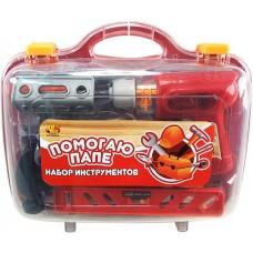 """Набор инструментов в чемодане """"Помогаю Папе"""", 26 предметов (ABtoys. Помогаю Папе, PT-00269)"""