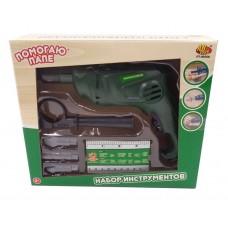 """Набор инструментов """"Помогаю Папе"""", 5 предметов, на батарейках (ABtoys. Помогаю Папе, PT-00568)"""