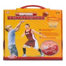 Корзина баскетбольная №7 с сеткой и креплениями, диаметр корзины 42 см (ABtoys, S-00031(AJ3103-1BK))