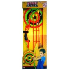 Лук со стрелами на присосках, в наборе 3 стрелы, лук и мишень (ABtoys, S-00060)