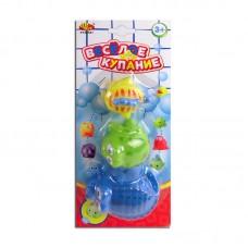 """Набор резиновых зверьков для ванной """"Веселое купание"""", 3 предмета (ABtoys. Веселое купание, PT-00331)"""
