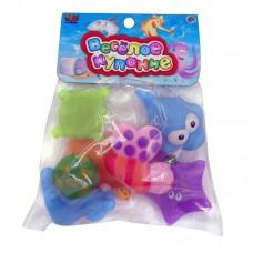 """Набор резиновых игрушек для ванной """"Веселое купание"""", в наборе 6 шт. (ABtoys. Веселое купание, PT-00350)"""