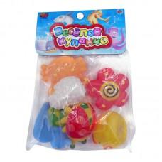 """Набор резиновых игрушек для ванной """"Веселое купание"""", в наборе 6 шт. (ABtoys. Веселое купание, PT-00351)"""