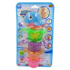 """Дельфин для ванной """"Веселое купание"""", в наборе с аксессуарами (5 предметов) (ABtoys. Веселое купание, PT-00528)"""