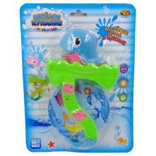 """Дельфин для ванной """"Веселое купание"""", в наборе с аксессуарами (2 предмета) (ABtoys. Веселое купание, PT-00531)"""